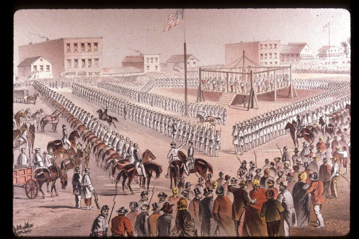158 years ago today, the largest mass execution in U.S. history took place under the orders of Abraham Lincoln.  On Dec 26, 1862, the day after Christmas, 38 Dakota warriors were hanged in Mankato, MN. #Dakota38