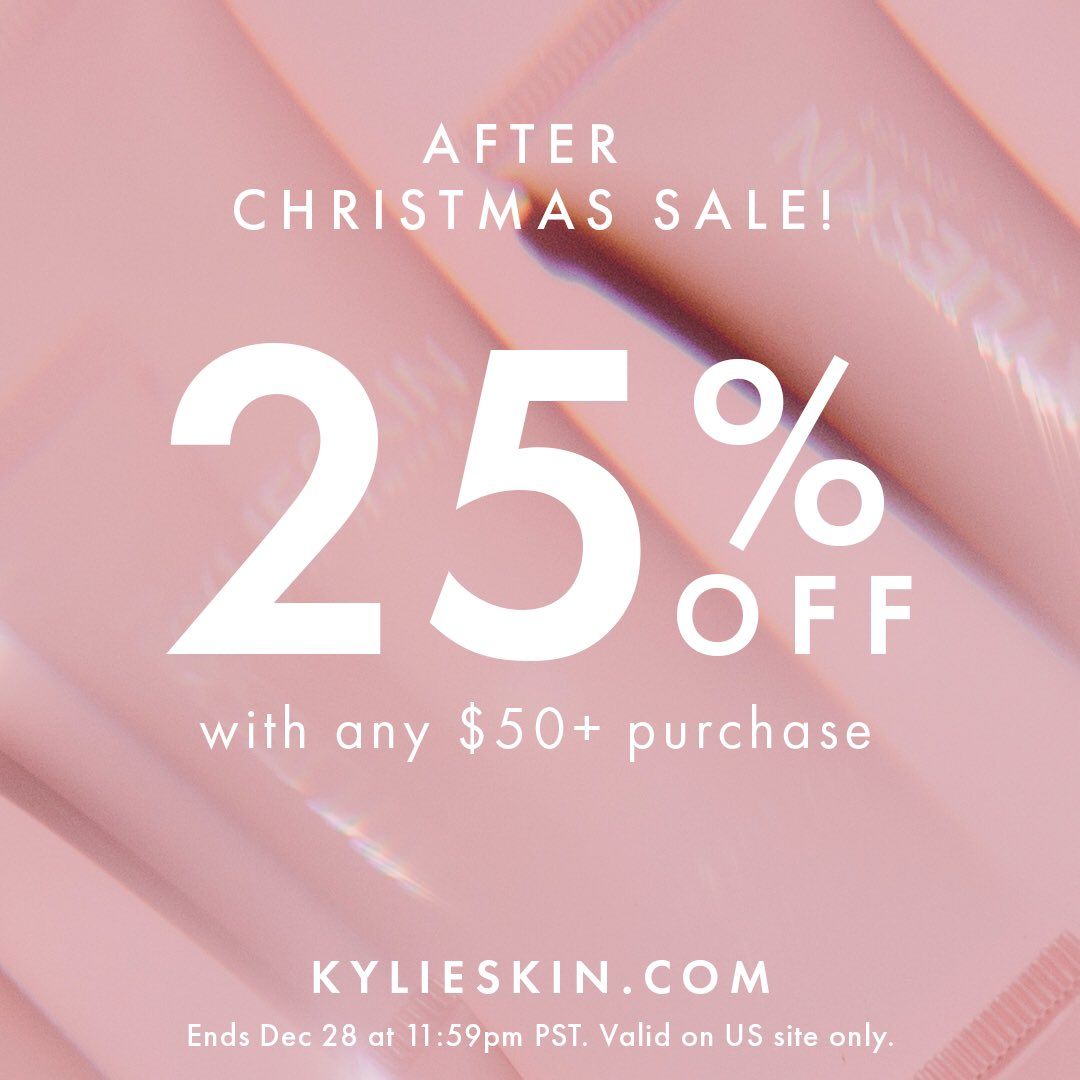 25% off with any $50+ purchase happening now on  🤩 Perfect time to stock up on your favorites 💕 Don't miss our last sale of the year! ✨