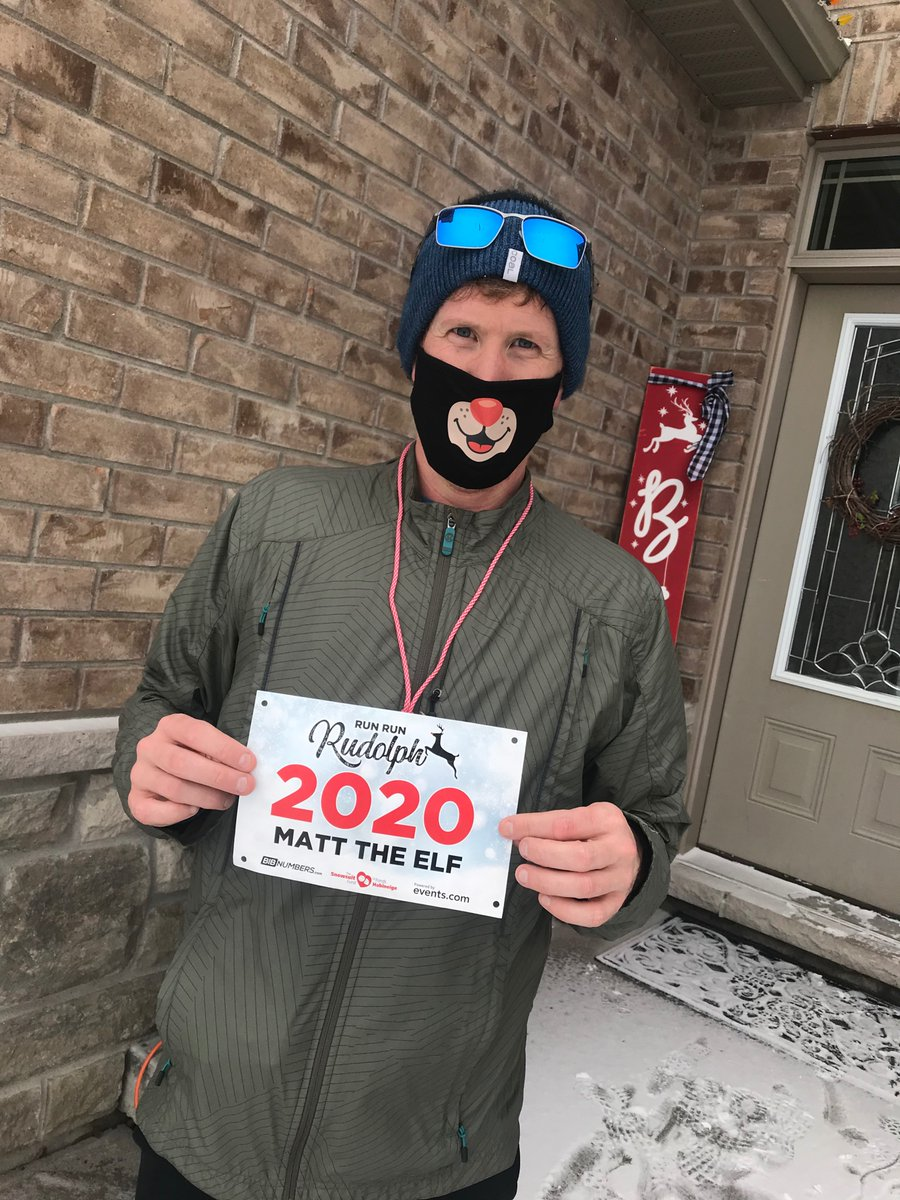 Matt the Elf completed his 5k Run Run Rudolph this morning! #runrunrudolph #sharethewarmth