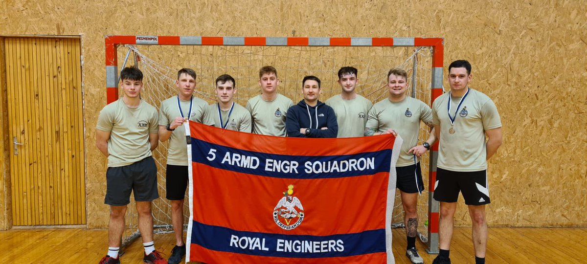 @OC_5AES made it to the final of the eFP Battlegroup 5-a-side tournament. The lads did the Sqn proud and finished second out of 16 teams. 💪 #ArmouredSappers #nilDesperandum #LiveMoveFight