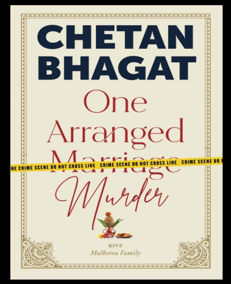 Let's do this @chetan_bhagat #OneArrangedMurder