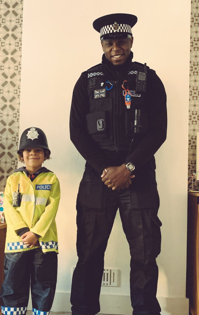 Like father like son. He wants to be in firearms when he's older. Leading by example. He loves the police, the respect he has for the police makes me happy. Children learn by their surroundings more then whats being said to them. #FutureFireArms #PoliceFamily #PositivePolicing