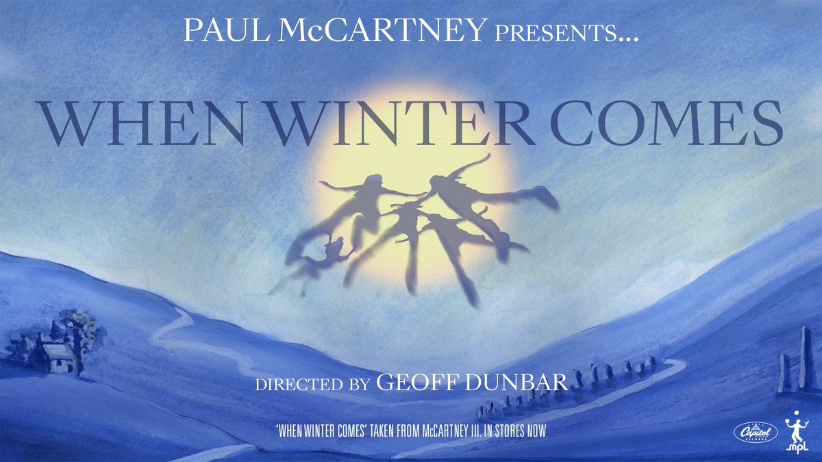 """I love nature and I love that idea of getting down and getting your hands dirty…"" - Paul  Watch the animated short film 'When Winter Comes.' directed by Geoff Dunbar on @YouTube ❄️  #McCartneyIII"