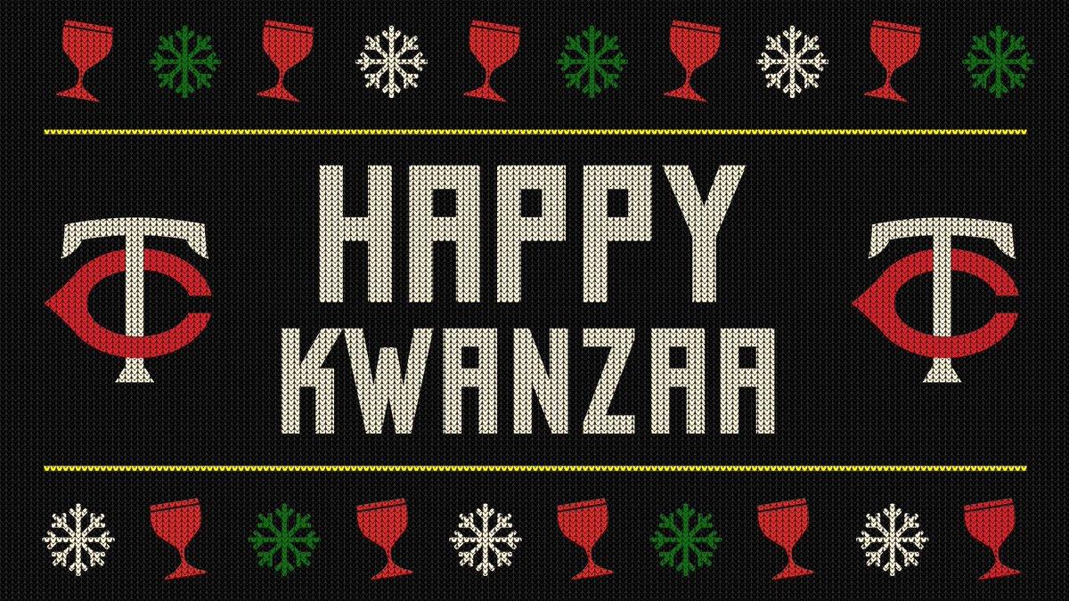 ¡Feliz #Kwanzaa!  #TwinsBéisbol https://t.co/ST9Qf6dUvy