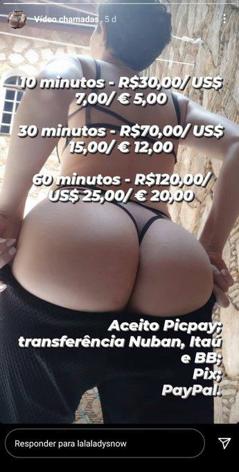 Estou disponível para video chamada  10 minutos 30$ 30 minutos 70$ 60 minutos 120$  Aceito picpay, PayPal