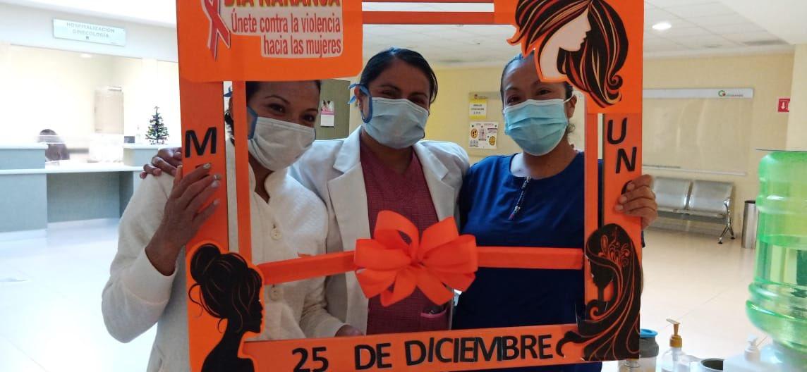 Nuestro equipo del Hospital Regional Tlalnepantla se une al #DíaNaranja contra la Violencia hacia las mujeres. #EquipoISSEMyM