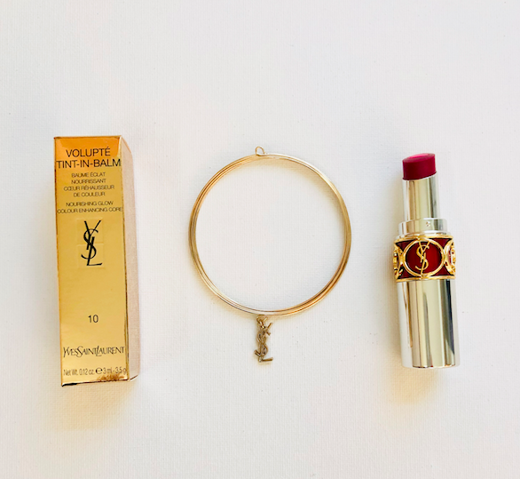 "I'm giving away YSL Volupté Tint-In-Balm in shade ""seduce me pink"" + charm bracelet on Twitter. To enter, follow @davelackie & RT"