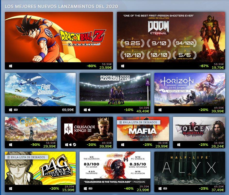 3 juegos de Xbox Game Studios entre los juegos más exitosos de Steam