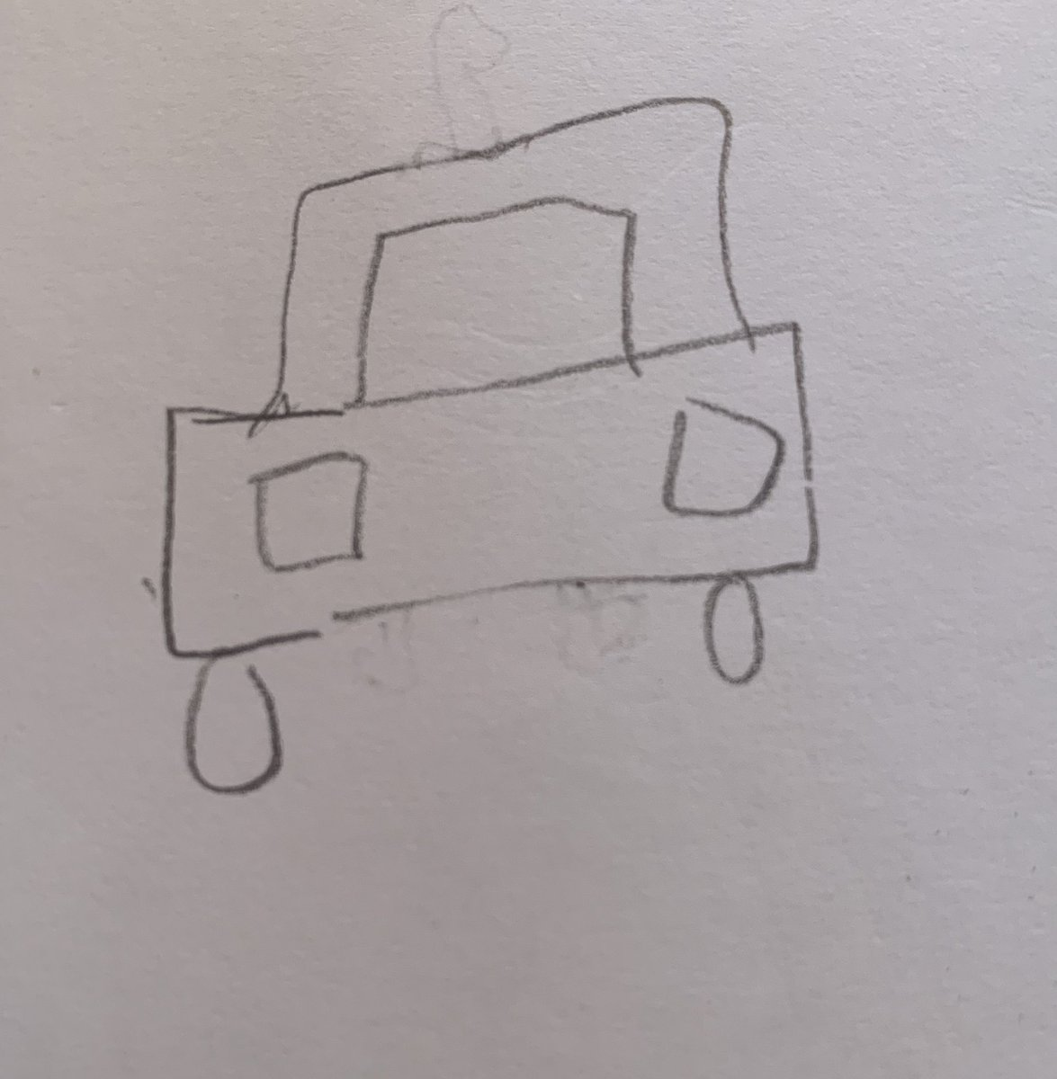 Trying to remember the make & model of the car I saw that looked like John Slattery.   @DennisCahlo just drew the back from memory and he's not helpful. https://t.co/5e0rVzsEBF
