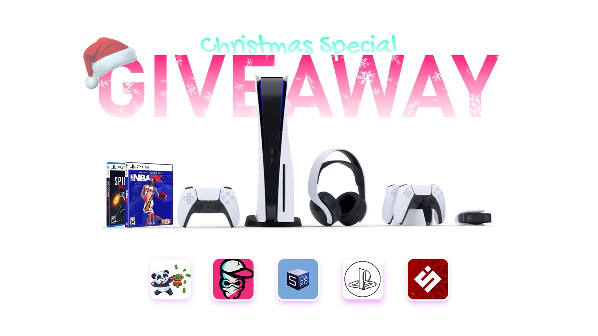BIGGEST Holiday Giveaway 🎅  Prizes: 🎁1x PlayStation 5 Disc Edition 🎁Everything in the image  To Enter: ✅Follow @CEOGIVEBACK, @YtNextGenGaming, @PS5Drop, @PS5StockUpdates, and @spieltimes. ✅Like and Retweet📨  🏆Winner will be announced in 48 hours!  ✌️Good luck!
