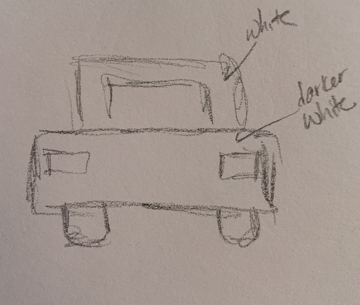 Ok I just drew the car from memory. It is definitely more accurate https://t.co/WRS9QQTpP8