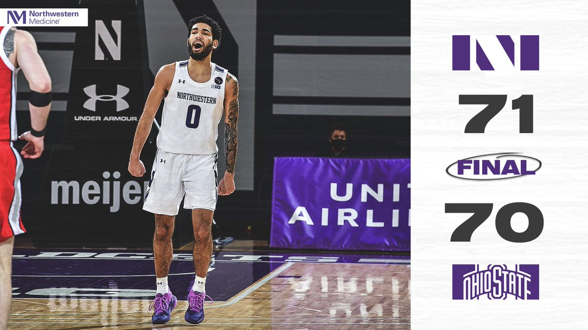 Another HUGE @NUMensBball win.  👀👀👀 you next week, Top 25!