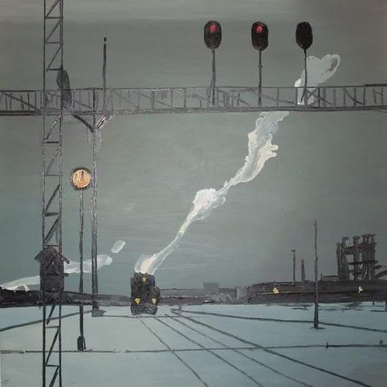Georgy  Nissky  On the Rails  1907 Last train