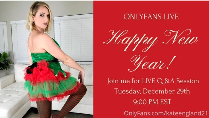 1 pic. I hope everyone had a wonderful Holiday, I am doing another LIVE show on https://t.co/J981lXvAjl