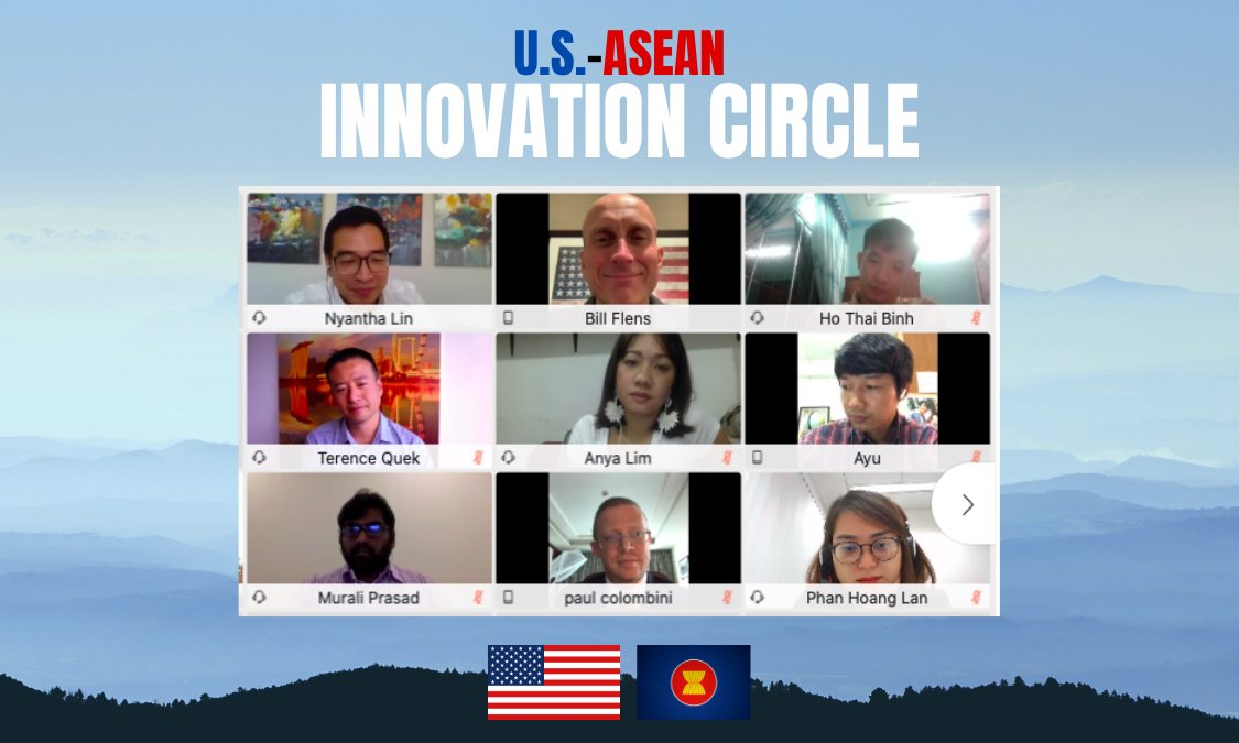 #ICYMI On November 30, 2020, Assistant Secretary Stilwell @USAsiaPacific joined emerging leaders from the United States, @ASEAN countries, and Timor-Leste for the launch of the U.S.-ASEAN Innovation Circle. Learn more: https://t.co/NWaUM7mbHX https://t.co/jkGeOZ3yoS