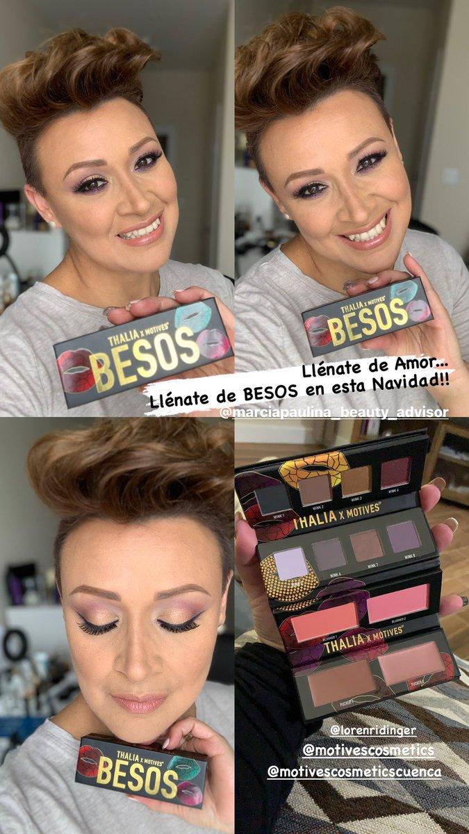 Enviándote muchos BESOS 💋💋💋💋 #thaliaxmotives @motives @lorenridinger #marciapaulinabeautyadvisor #thaliabesos #makeup #makeupartist