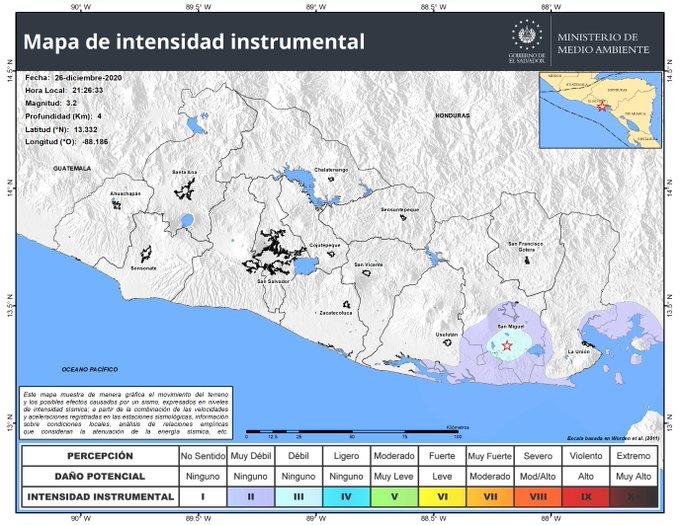 Fallas locales generan serie sísmica en San Miguel