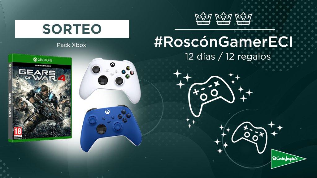 🎁¡SORTEO!🎁 El segundo regalo de nuestro #RoscónGamerECI consiste hoy en un pack de #Xbox, con el juego #GearsofWar4, un mando blue y un mando white. Para participar: 🔄Haz RT ✔️Sigue a @EspVideojuegos  🖋️Comenta usando #RoscónGamerECI  @elcorteingles