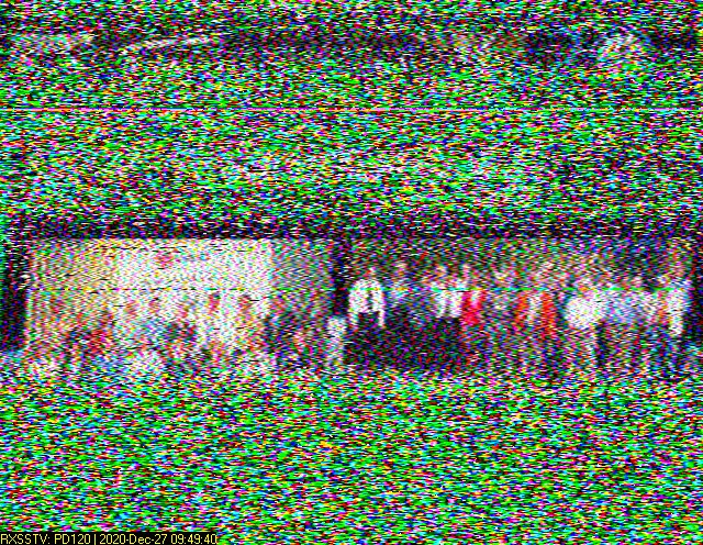Just had a shot at receiving the #SSTV pictures broadcast from the #ISS. Improvements to be made, but am very pleased to get a strong enough signal from leaning out the bedroom window! Follow @ESA__Education to learn more! (twitter.com/ESA__Education…)