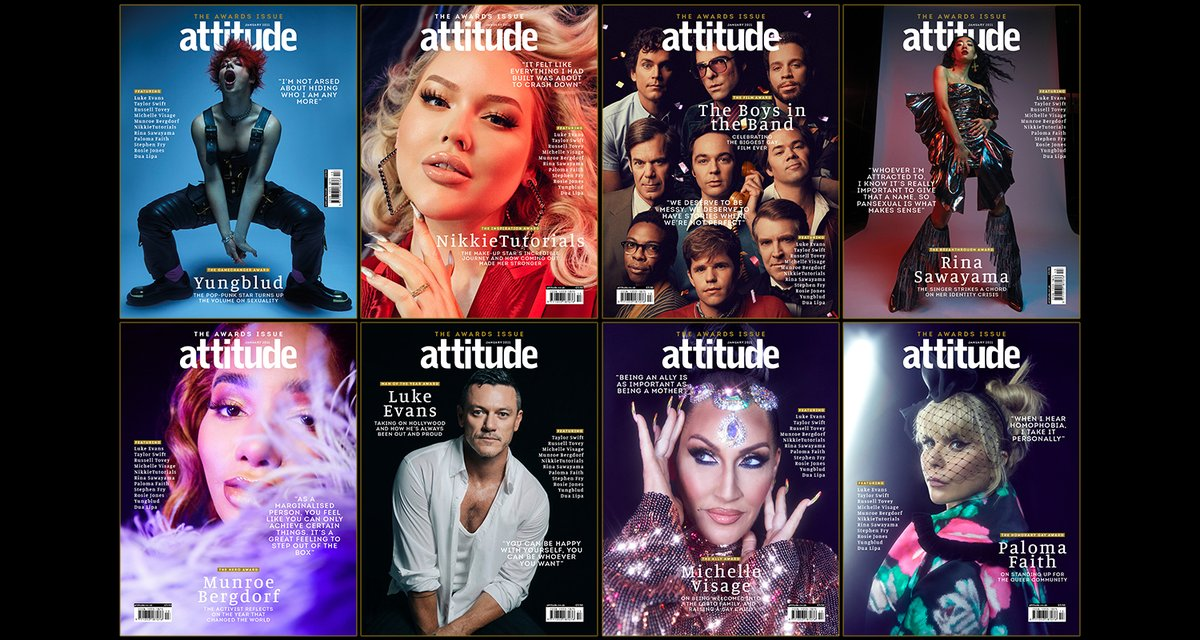 Celebrate a year of queer excellence in the #AttitudeAwards issue 🌈🎉  Download:   Subscribe:
