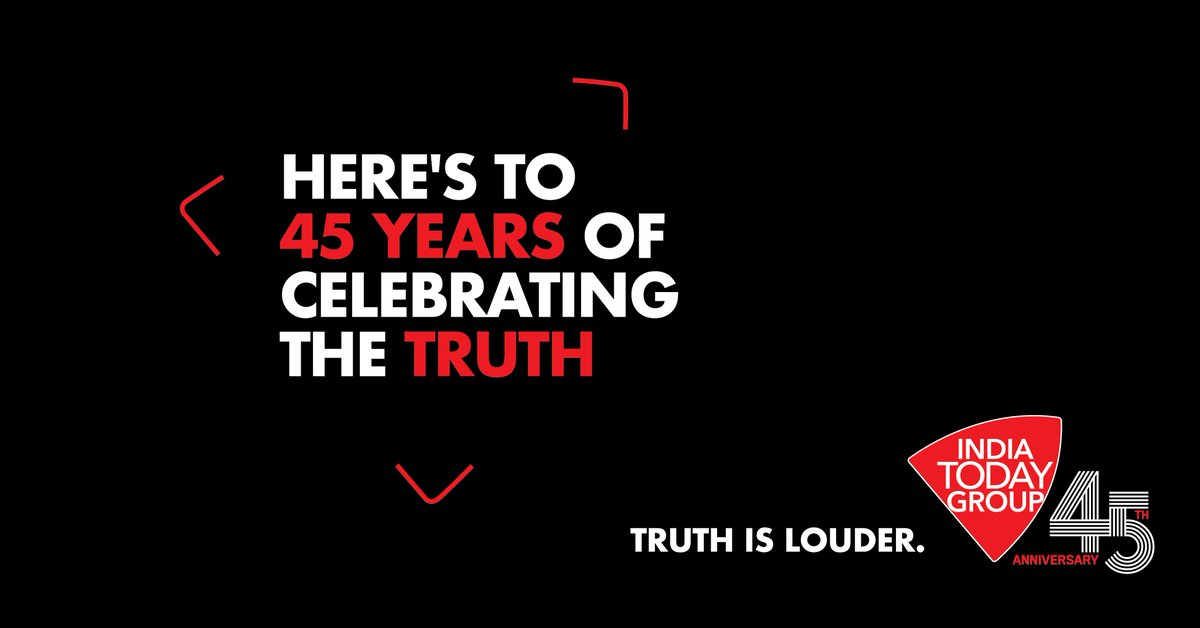 Let's make all the noise, but with truth and nothing but the truth. That's what India Today has been doing for the last 45 years. #IndiaTodayGroupAt45