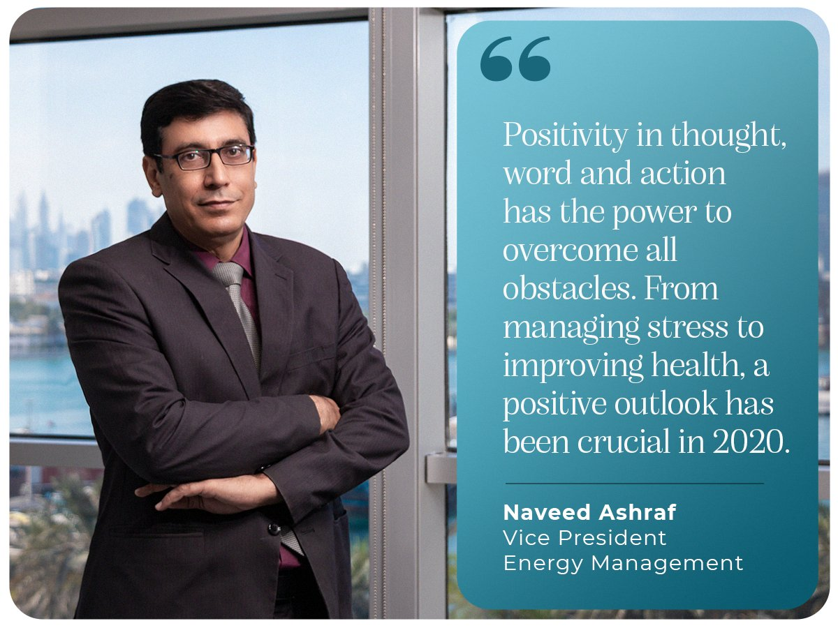 It takes a great amount of #positivity & #resilience to accept #new realities & move forward with a much stronger resolve. Naveed Ashraf, VP Energy Management, advocates that #positivethinking is the most important lesson learnt in the #year2020. #countdownbegins #iamscientechnic https://t.co/uAUexGDafn
