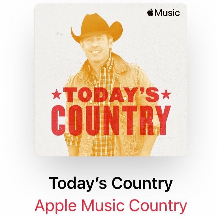 The gifts just keep on coming! THANK YOU @AppleMusic for putting my mug on the cover your #TodaysCountry playlist + for adding Silverado Saturday Night!