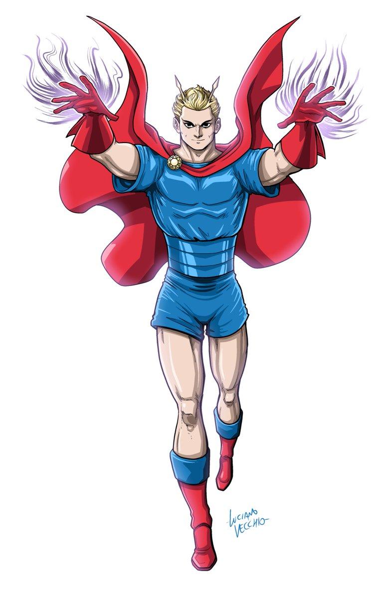 Jupiter: Master Magician Public domain Golden Age superhero, apparently  Digital Commission #JupiterMasterMagician #GoldenAge #PublicDomainSuperheroes