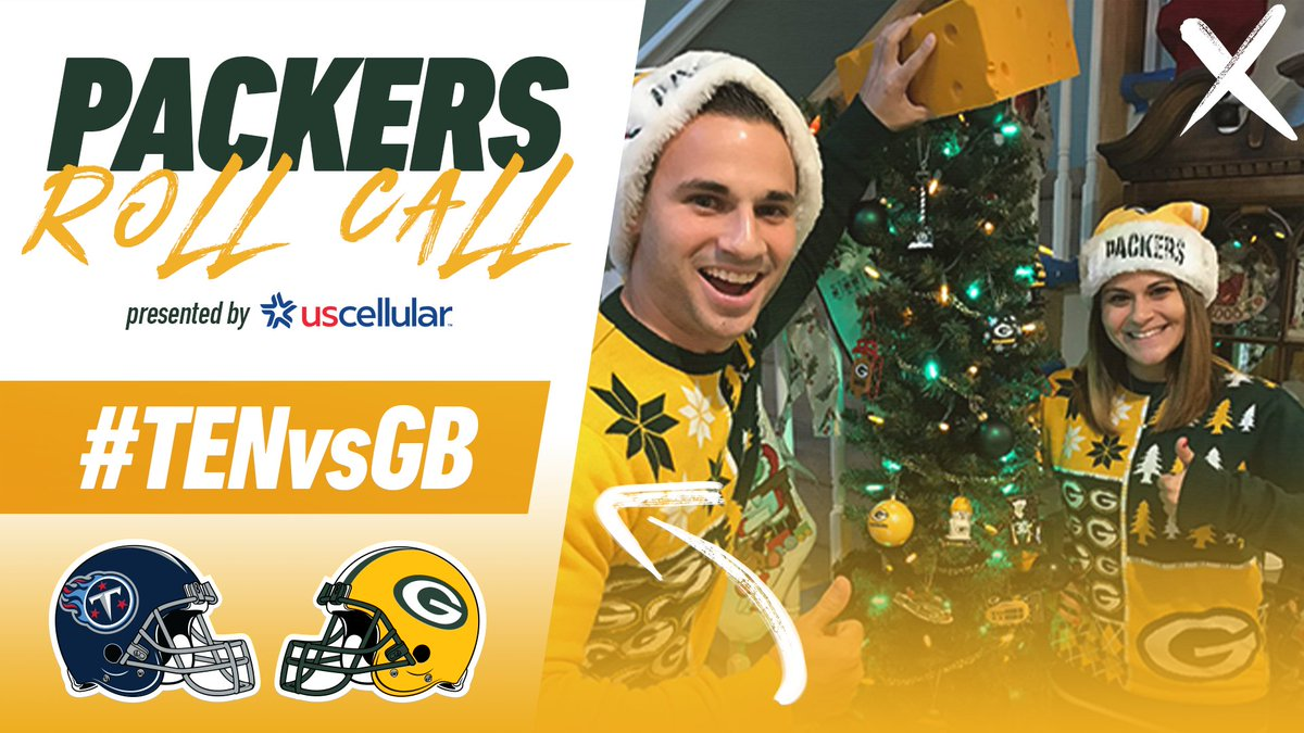 🗣️ #PackersRollCall  Reply & let us know where you'll be watching tonight's game for a chance to win a $50 Packers Pro Shop gift card, courtesy of @USCellular!  #TENvsGB | #GoPackGo