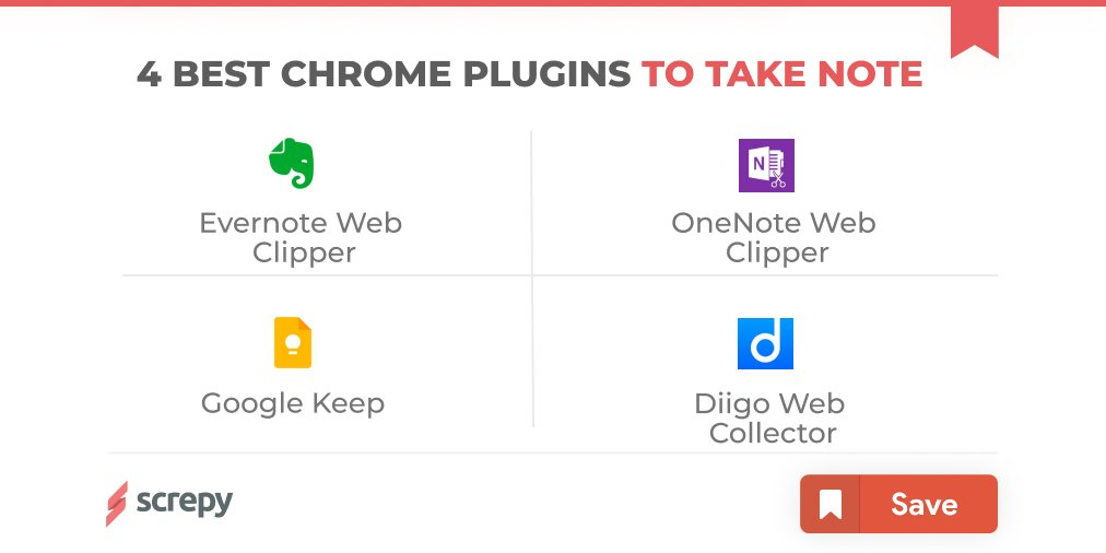 💡4 Best Chrome Plugins to Take Note 💻  #screpy #seo #chrome #evernote #GoogleKeep #OneNote #Diigo #editor #NOTE #plugins #offpageseo #onpageseo #seotips #seotipsandtricks #seoanalyst #searchengine #webanalytics #pagespeed #webdevelopment https://t.co/NnOOlvIfYX