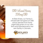 At Bees Knees, our honey is infused with full-spectrum #CBD extract derived from hemp organically grown on our own farm and manufactured in our own facility in Colorado. #cannabidiolextract #cannabidiol #hempoilextract #cbd https://t.co/F0WtGhkEVa