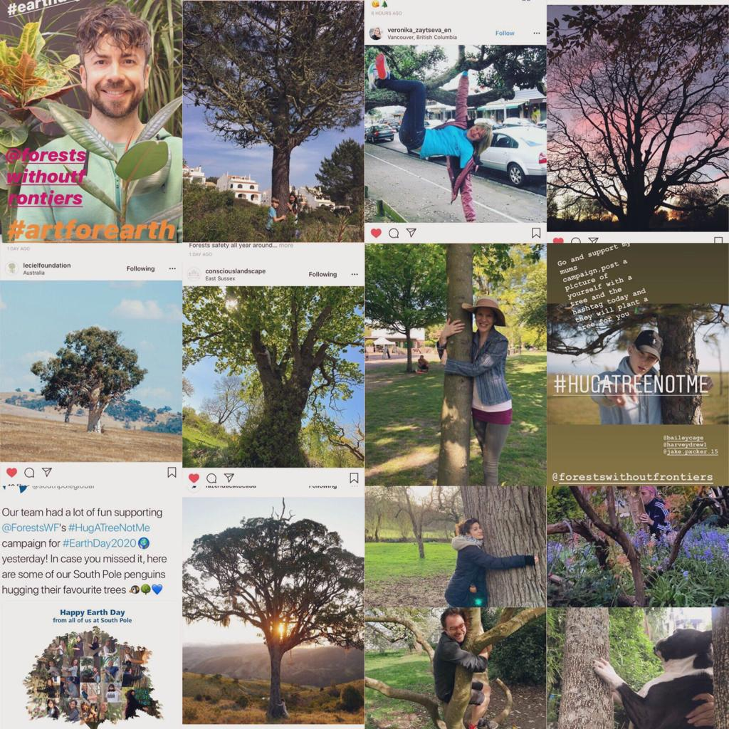 Continuing our look back on 2020, for #EarthDay2020 and during lockdown we encouraged you to #hugatreenotme and received lots of wonderful photos from our tree hugging supporters!  Read more about the campaign here:
