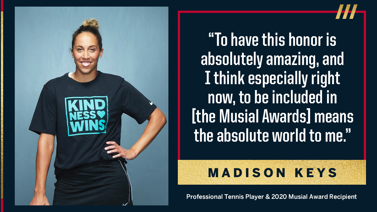 Replying to @MusialAwards: #Kindness never goes out of style. #MusialAwards @Madison_Keys @KindnessWinsFnd