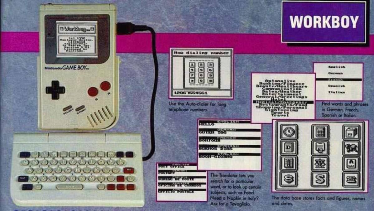 Acá un hallazgo de esos jocosos que nos gustan compartirles. Gracias a @Doctor_Cupcakes del canal @didyouknowgamin , se descubrió el Workboy, un teclado que permitía a tu Game Boy convertirse en una agenda electrónica con directorio, calculadora y reloj 😱 ¿Lo habrían comprado?