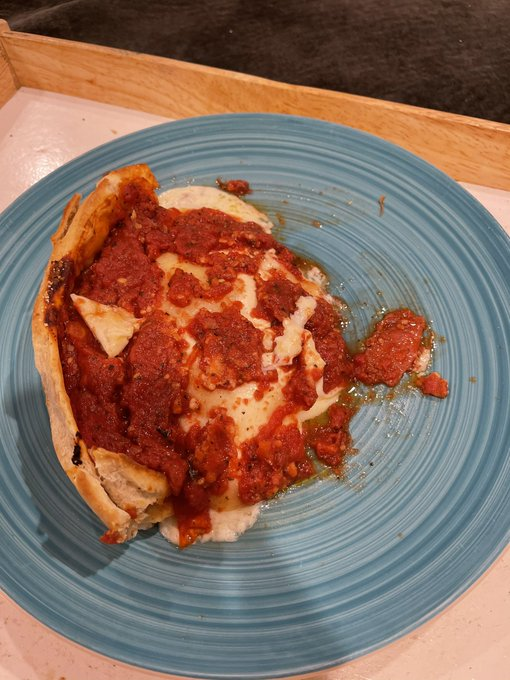 """3 pic. Really missing Michael's """"Sweet Home, #Chicago"""" so we ate the 2nd @GiordanosPizza sent to him"""