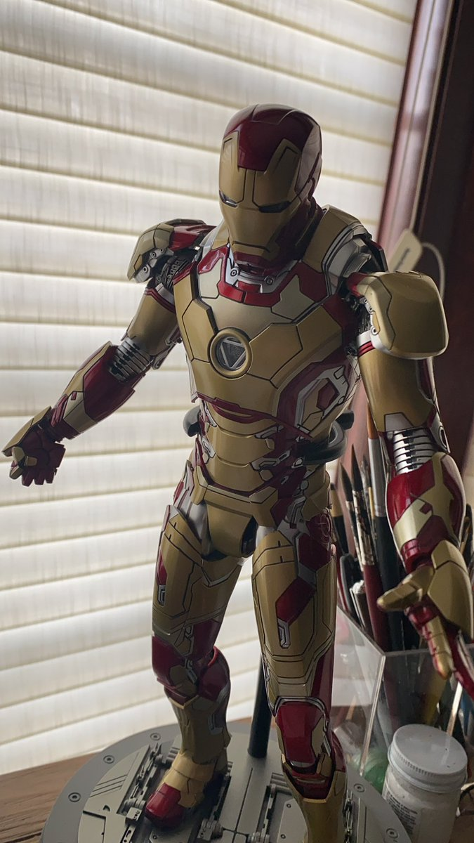 Now I make up for the lack of #IronMan toys as an adult! #HotToys
