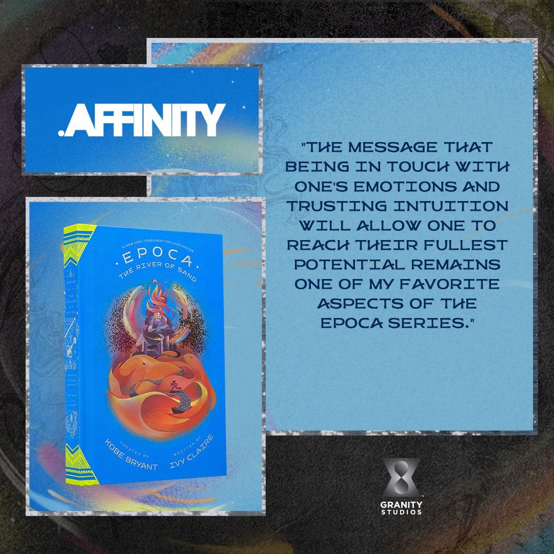 Thanks to @TheAffinityMag for the glowing review! #EPOCA: The River of Sand highlights the positive force that can be found in times of adversity and the importance of looking inside yourself to find where your #GRANA can shine!