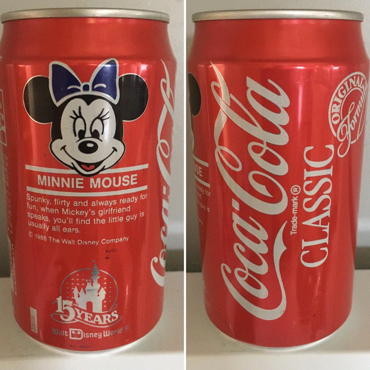 @CocaCola Classic Minnie Mouse @WaltDisneyWorld 15 Years #canmuseum