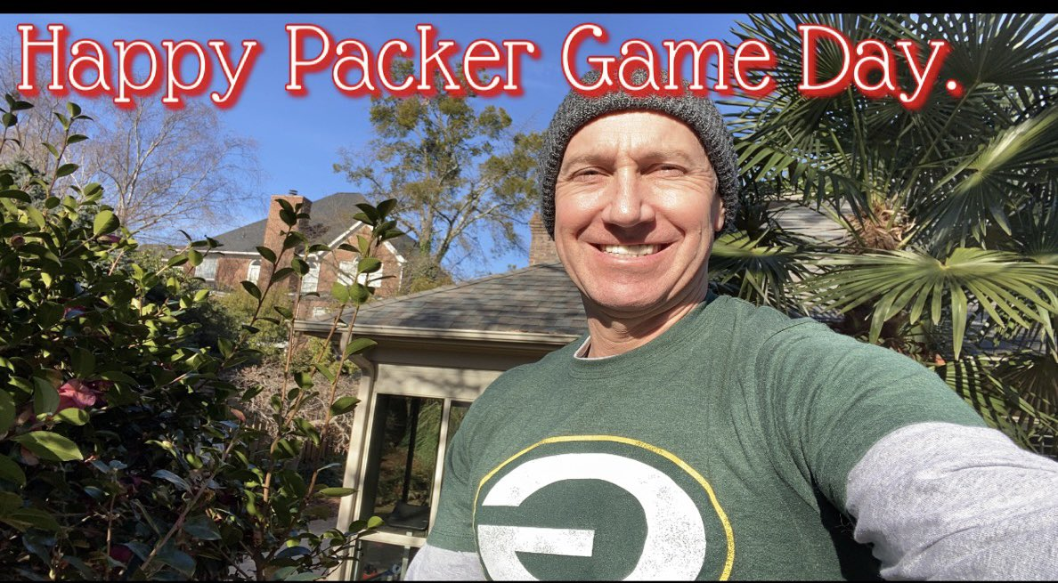 Time to throw on one of my Christmas gifts. So much love. #GoPackGo ... much love to all and especially Bears, Chief, and Panther fans if you could give us a win this next month. #NFLRollCall #PackerRollCall #Carolina