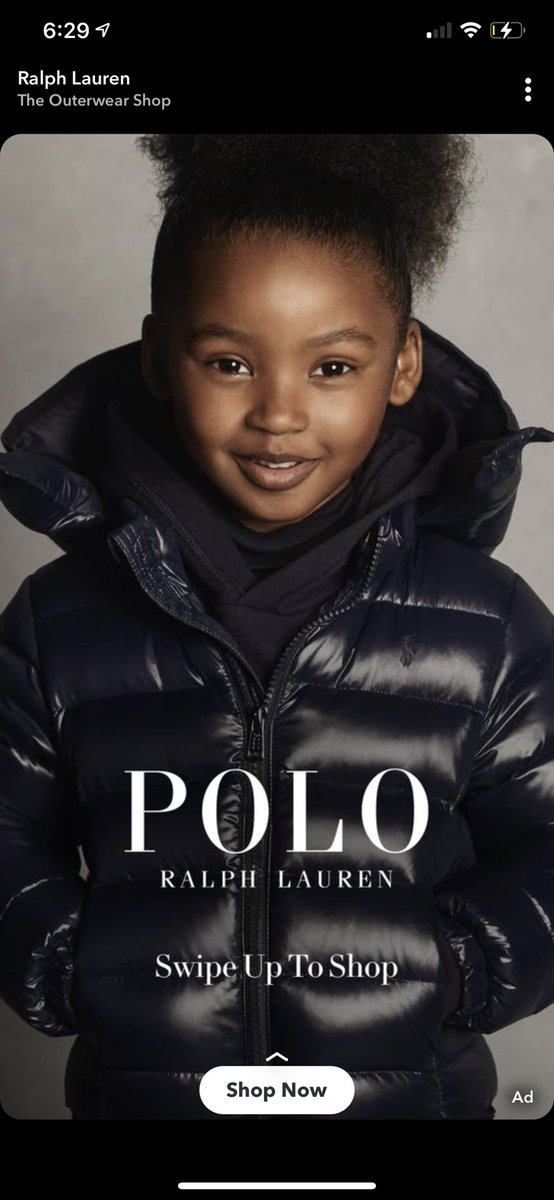 This little girl is gorgeous. I want to see more black girls in ads