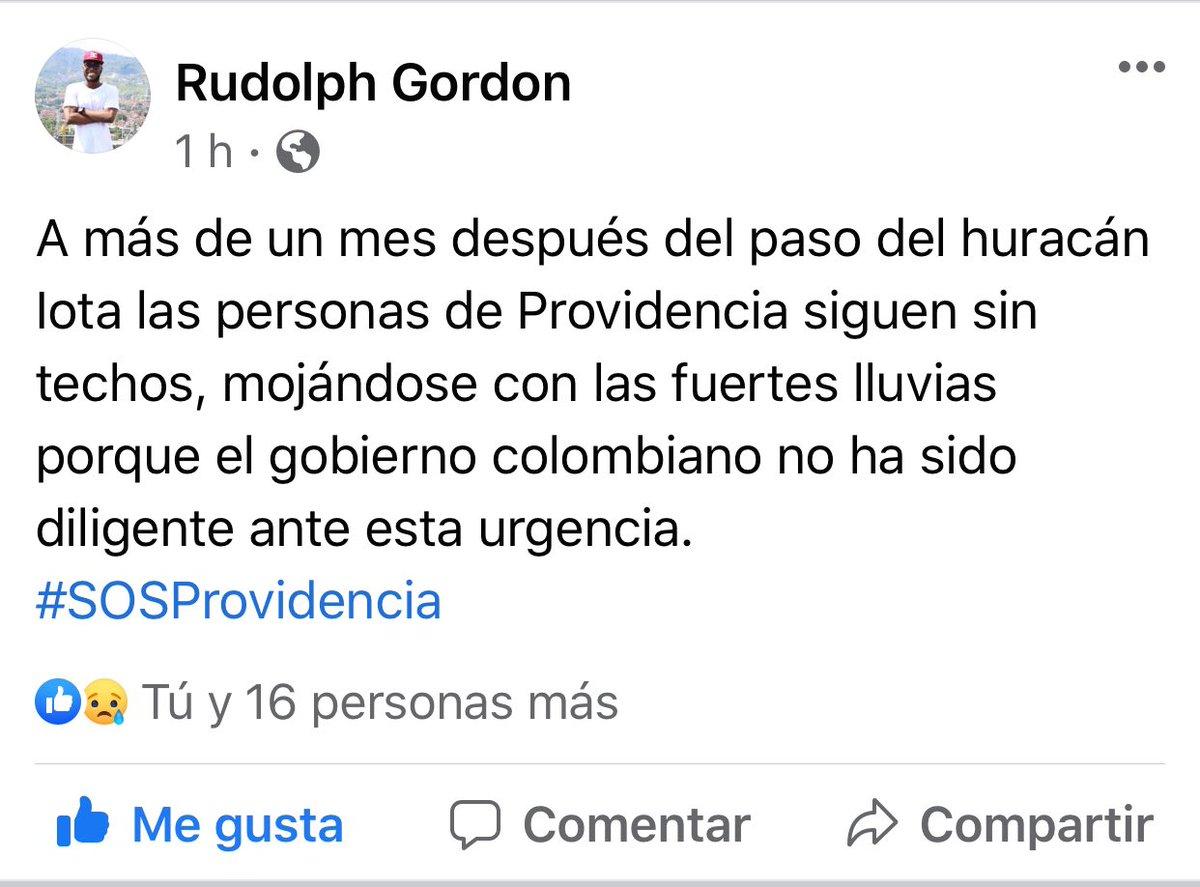 Esto es lo que dice la gente!!! No los dejemos solos!! #Providencia  #ProvidenciaRenace #FiProvidence #SOSSanAndresyProvidencia  #ProvidenciaRenace #enprovidencianosestamosmojando