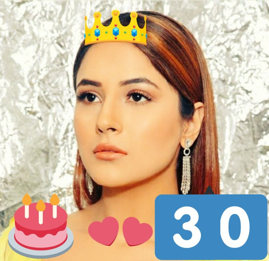 #BirthdayCountdown starts for our👑@ishehnaaz_gill  30 days left.... First wish for our 👸 #ShehnaazGill  May God fulfil your all the wishes...