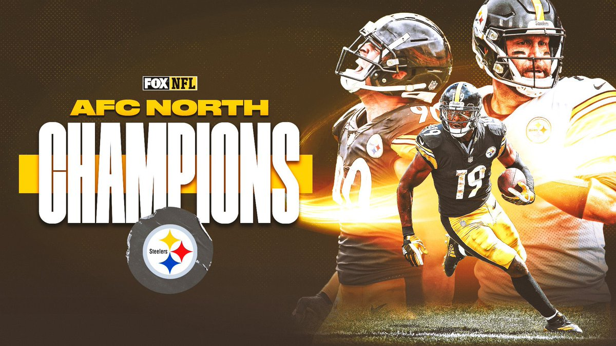 AFC NORTH CHAMPIONS 🔥  Our first goal for the season when we start every training camp. Proud of this team for fighting back and finding a way.