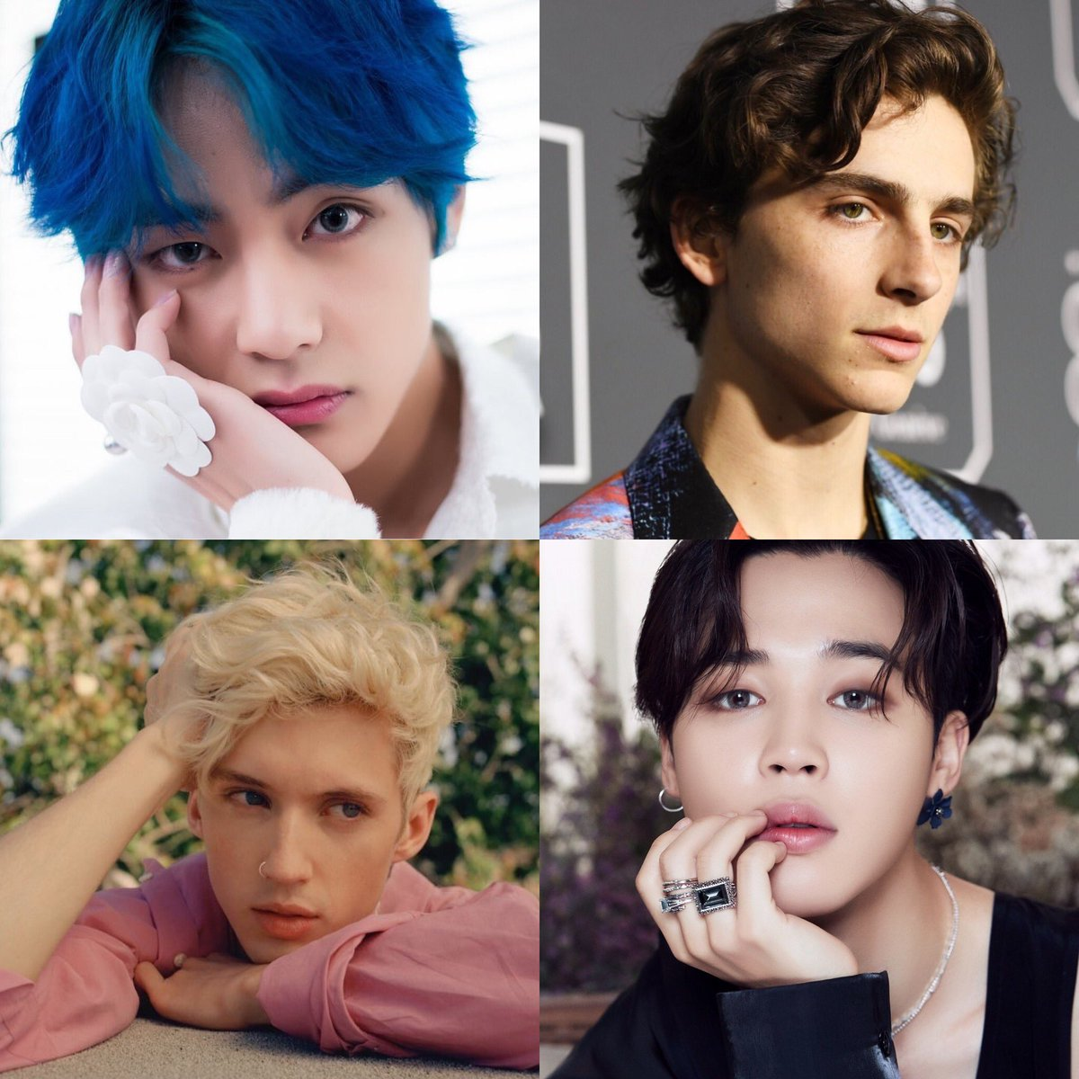 1995 miracles. I'm so grateful.  #V #Jimin #Timothee #Troye