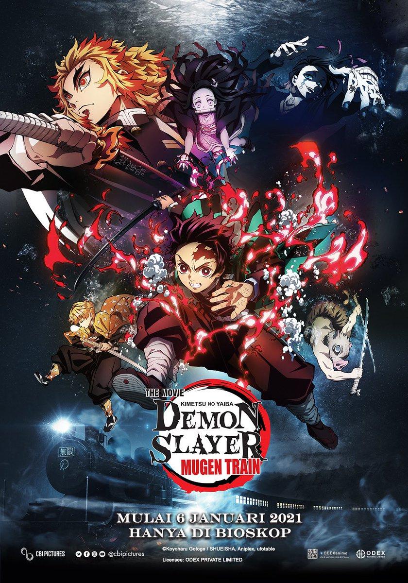 Menjadi film TERLARIS di Jepang sepanjang masa, ini dia Official Poster film DEMON SLAYER: KIMETSU NO YAIBA THE MOVIE: MUGEN TRAIN 🔥  Retweet buat Sobat XXI yang udah gak sabar mau nonton! Tungguin ya, tayang mulai 6 JANUARI 2021 di Cinema XXI.  #DemonSlayerXXI #NontonAnimediXXI