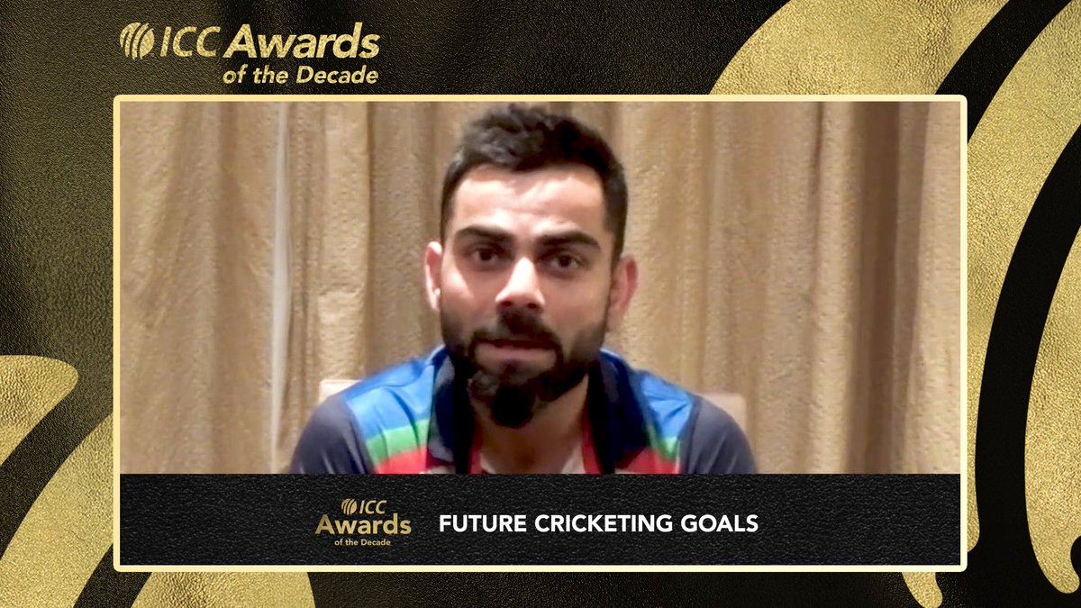 🏅 ICC @CricketWorldCup win in 2011 🏆 ICC Champions Trophy win in 2013 🎖️ Test series win in Australia in 2018  Virat Kohli, the winner of the Sir Garfield Sobers Award for ICC Male Cricketer of the Decade, talks about the last 10 glorious years of his career 🙌  #ICCAwards