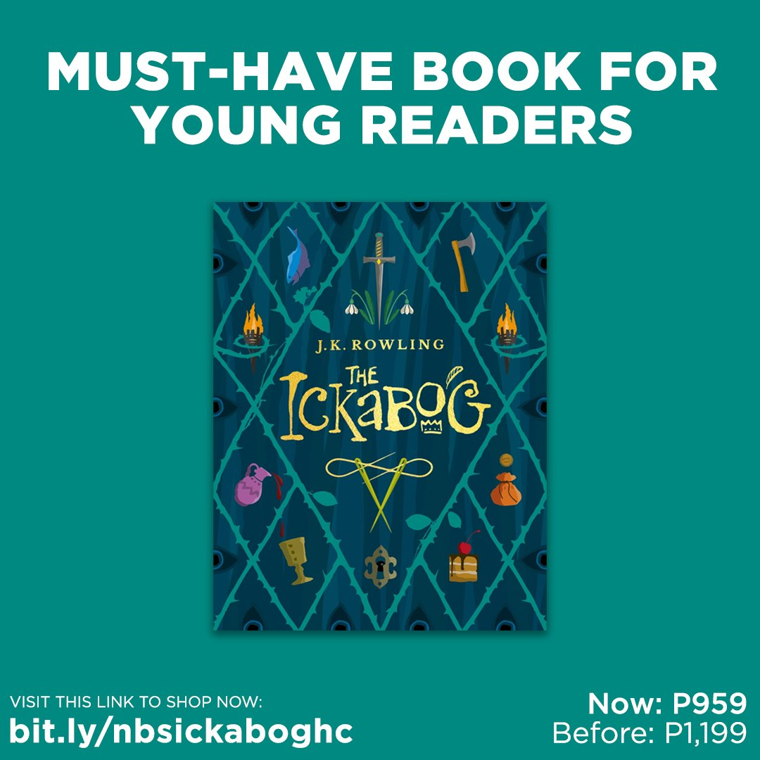 Get 20% OFF J.K. Rowling's new children's book, The Ickabog! SAVE P240 (Now: P959, Before: P1,199). Shop now by visiting this link: .  #TheIckabog #JKRowling #NBSNewReads #NBSbookstagram #NBSeveryday