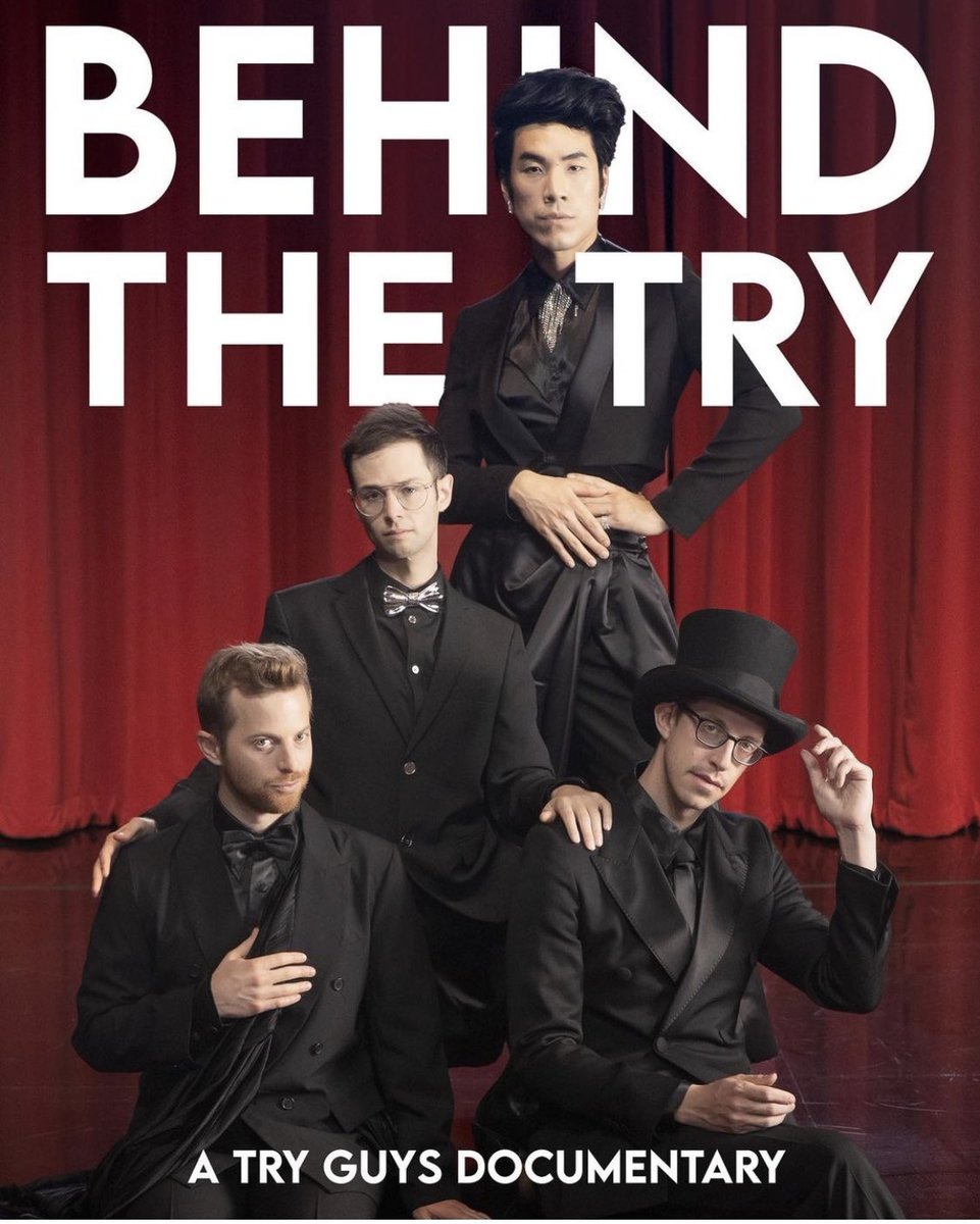 From their chemisTRY to their gallanTRY to their flying poulTRY to their TRYceratops logo-the Try Guys have found their niche in the indusTRY. If you haven't seen their videos or their documenTaRY- you should give it the old college TRY. Just TRY not to love them.  #behindthetry