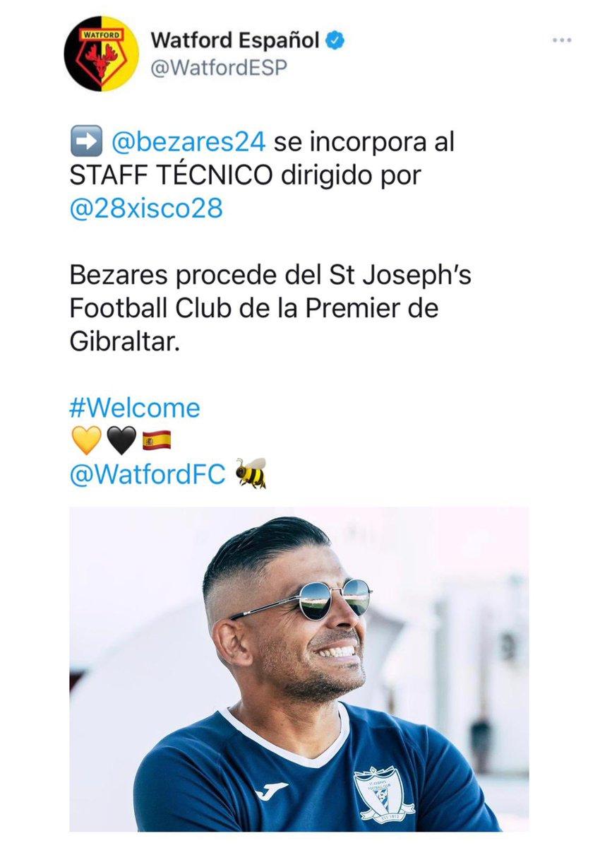 Muchas gracias a Xisco y Jordi Abella por confiar en mi.  Trabajaremos al máximo para devolver al Watford a la Premier. 💪 #muyilusionado