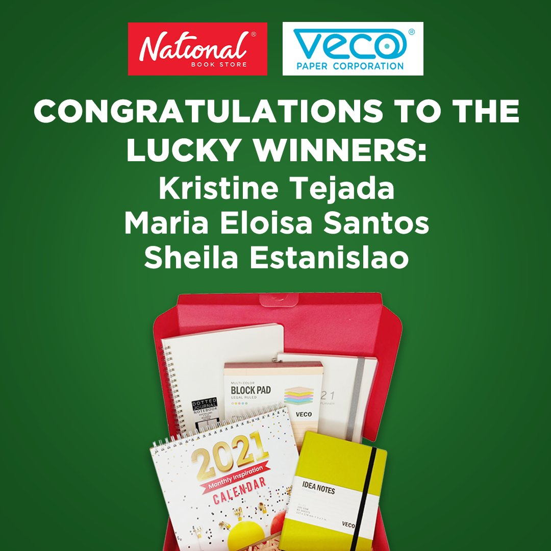 Congratulations to the lucky winners of a Christmas gift box filled with stationery from Veco: Kristine Tejada Maria Eloisa Santos Sheila Estanislao  Get ready for more exciting giveaways coming soon! #Veco #NBSgiveaway #NBSeveryday